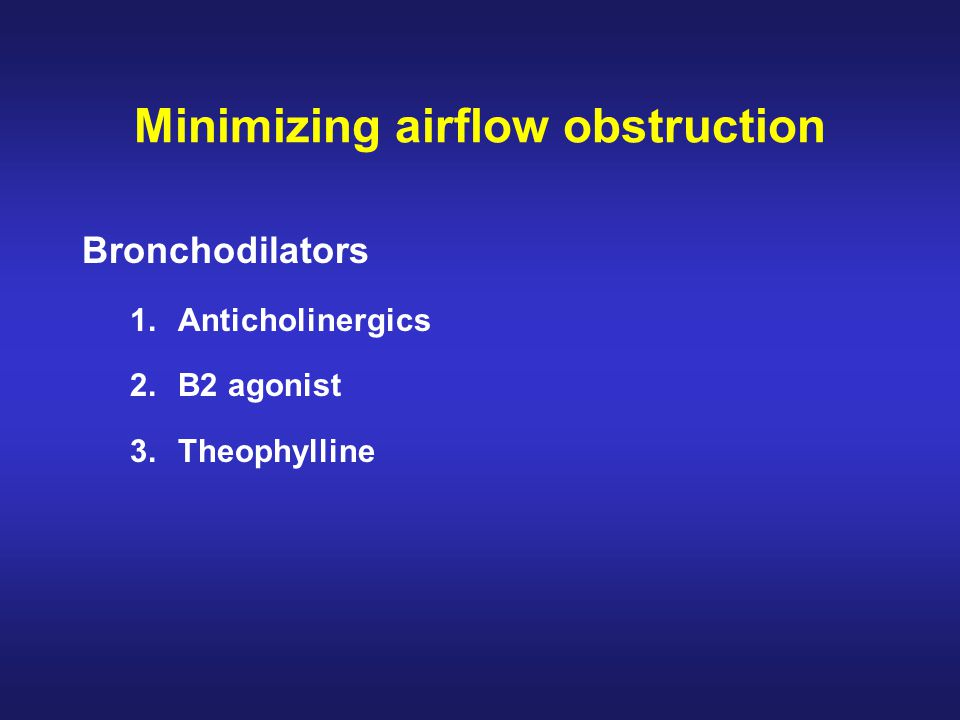 Minimizing airflow obstruction