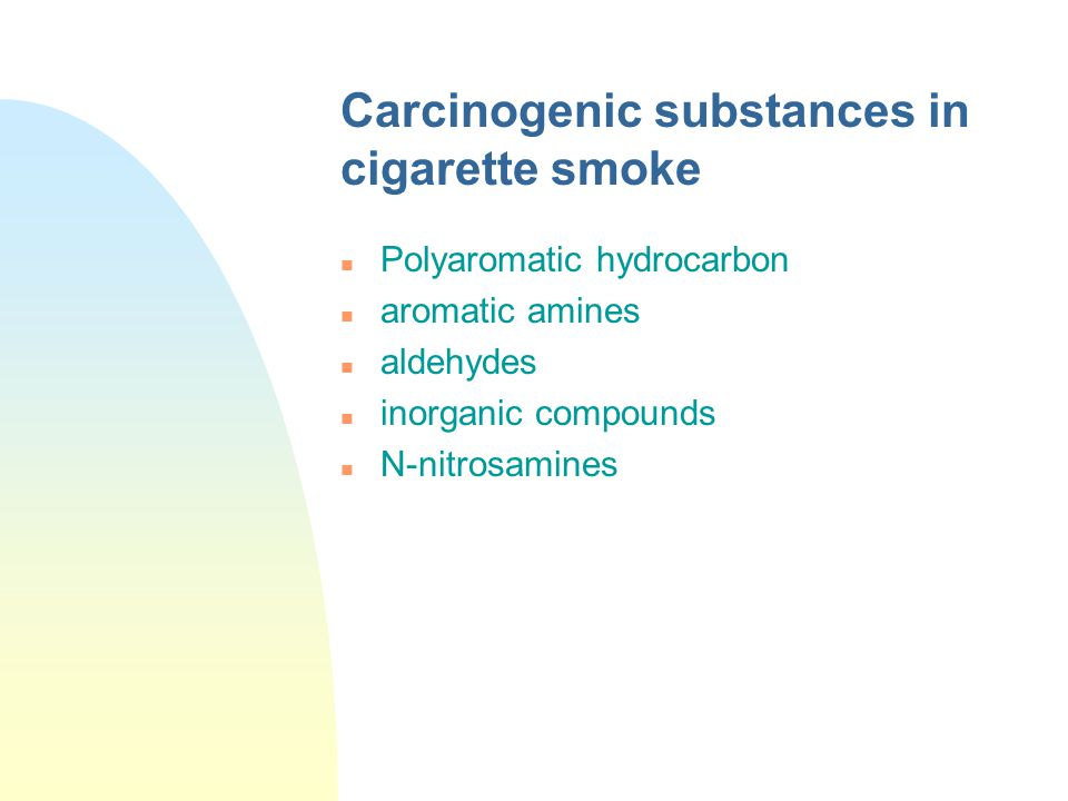 Carcinogenic substances in cigarette smoke