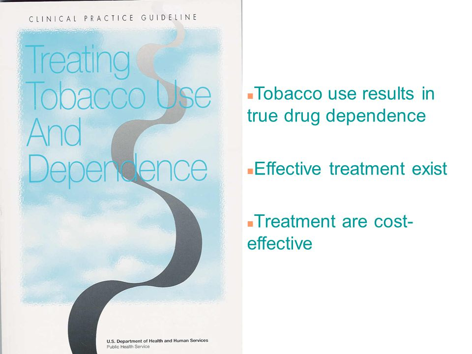 Tobacco use results in true drug dependence