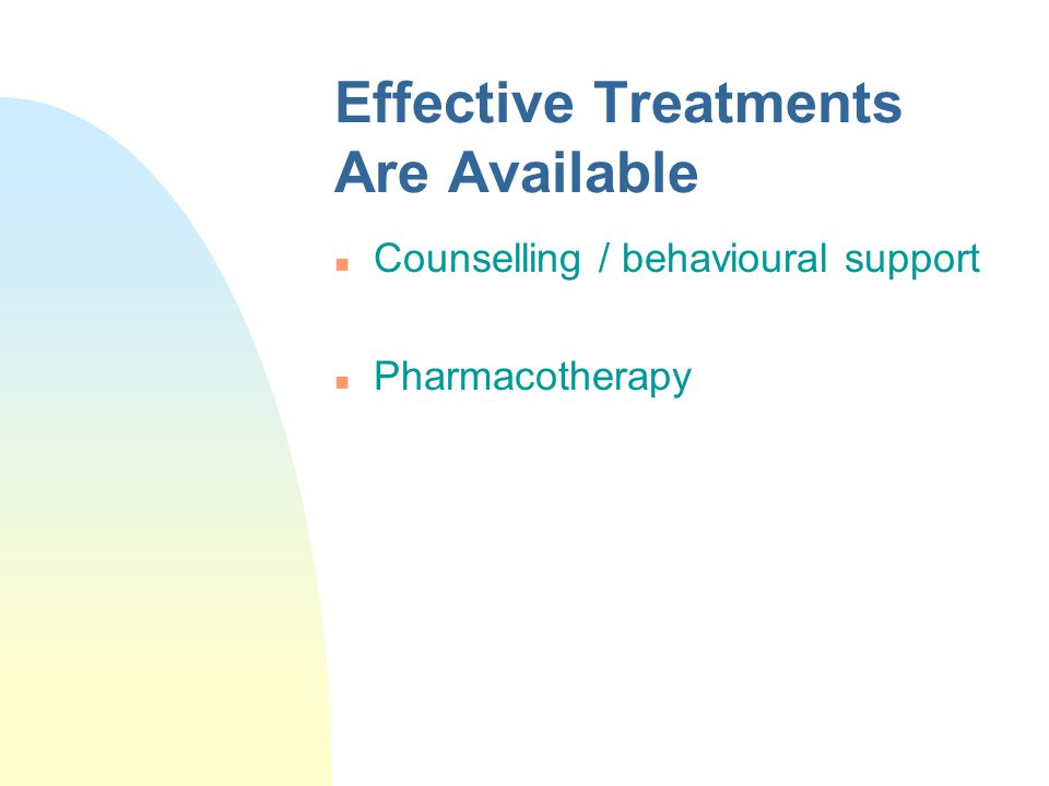 Effective Treatments Are Available