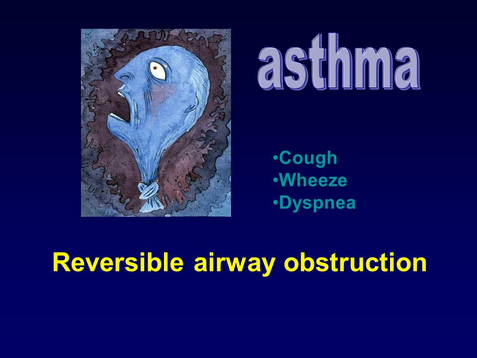 asthma Cough Wheeze Dyspnea Reversible airway obstruction