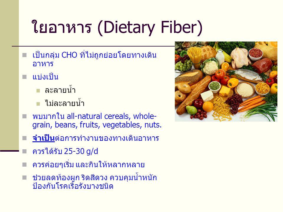 ใยอาหาร (Dietary Fiber)