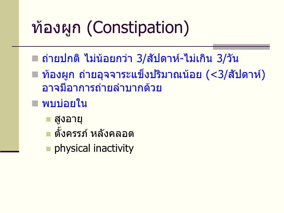ท้องผูก (Constipation)