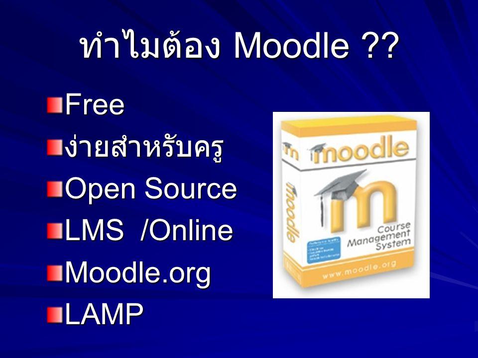 ทำไมต้อง Moodle Free ง่ายสำหรับครู Open Source LMS /Online