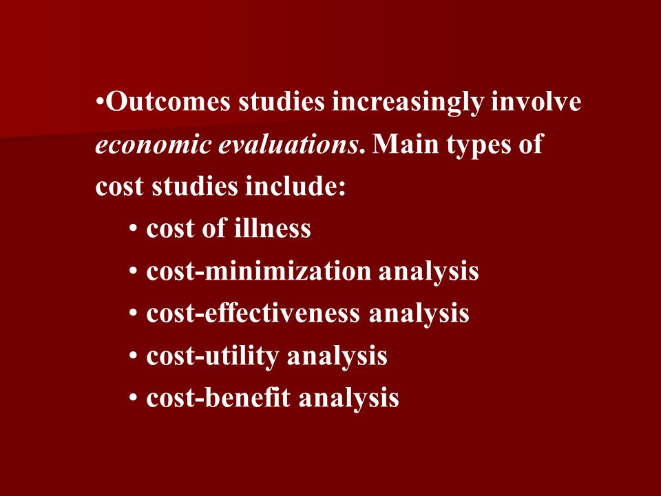 cost-minimization analysis cost-effectiveness analysis