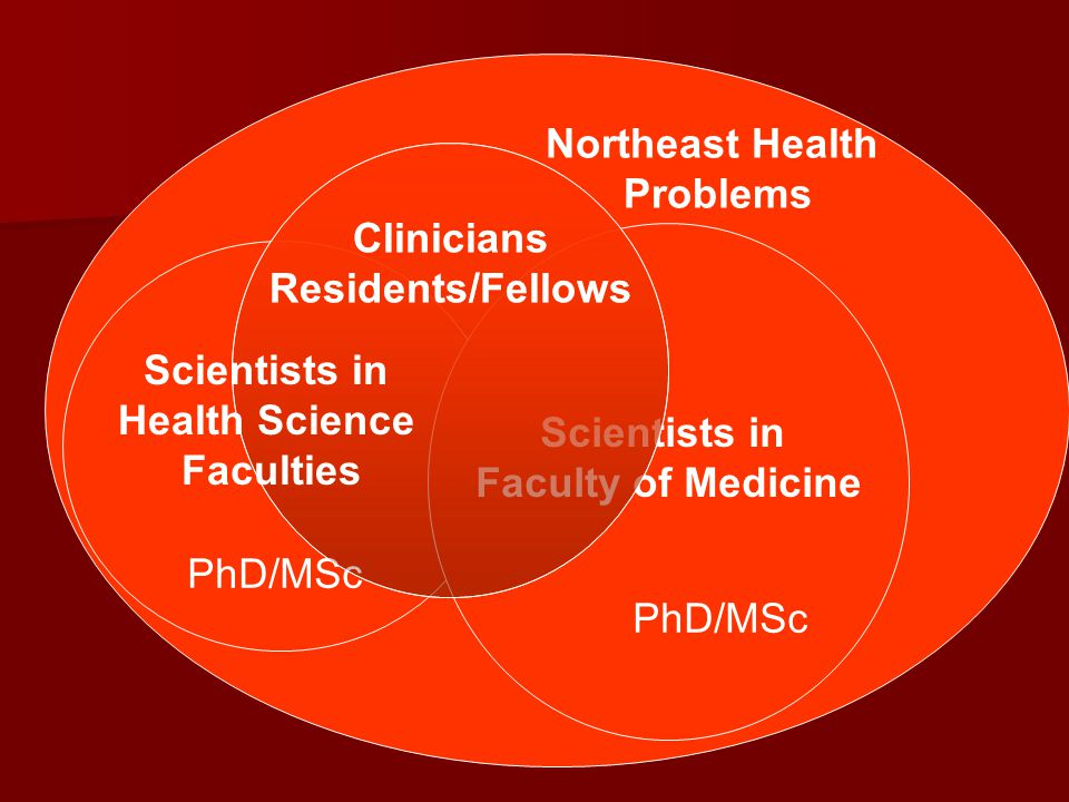 Northeast Health Problems. Clinicians. Residents/Fellows. Clinicians. Residents/Fellows. Scientists in.
