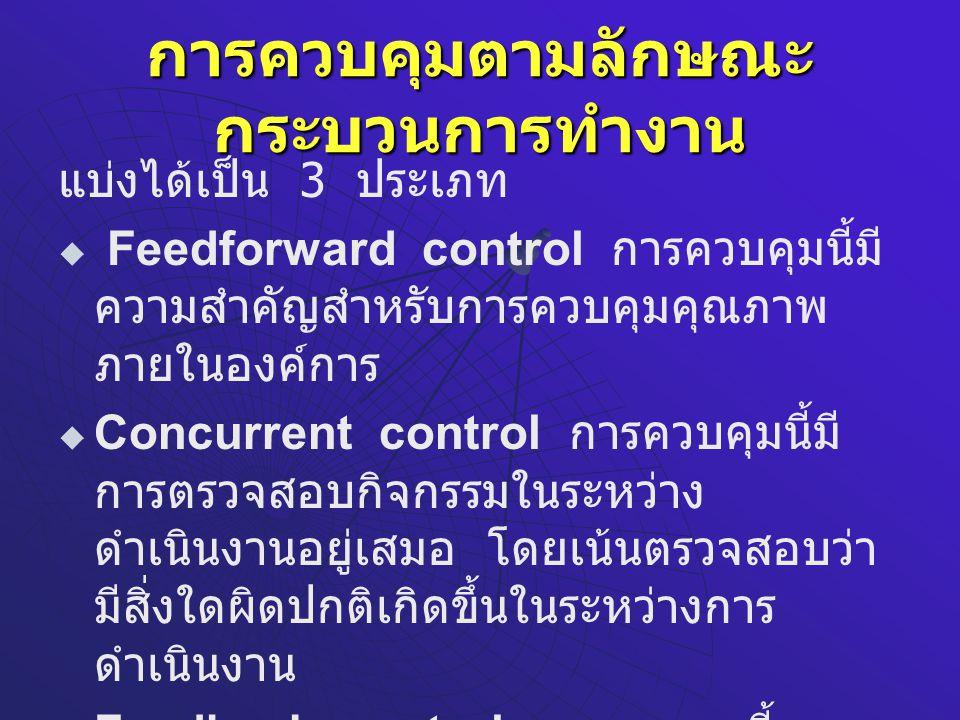 การควบคุมตามลักษณะกระบวนการทำงาน