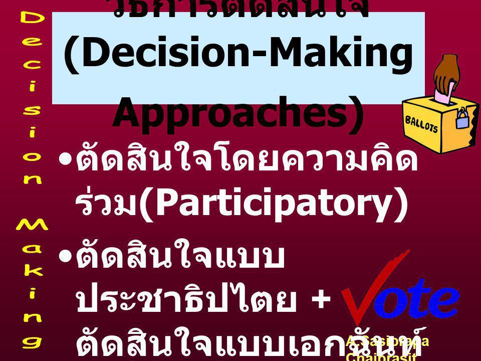 วิธีการตัดสินใจ (Decision-Making Approaches)