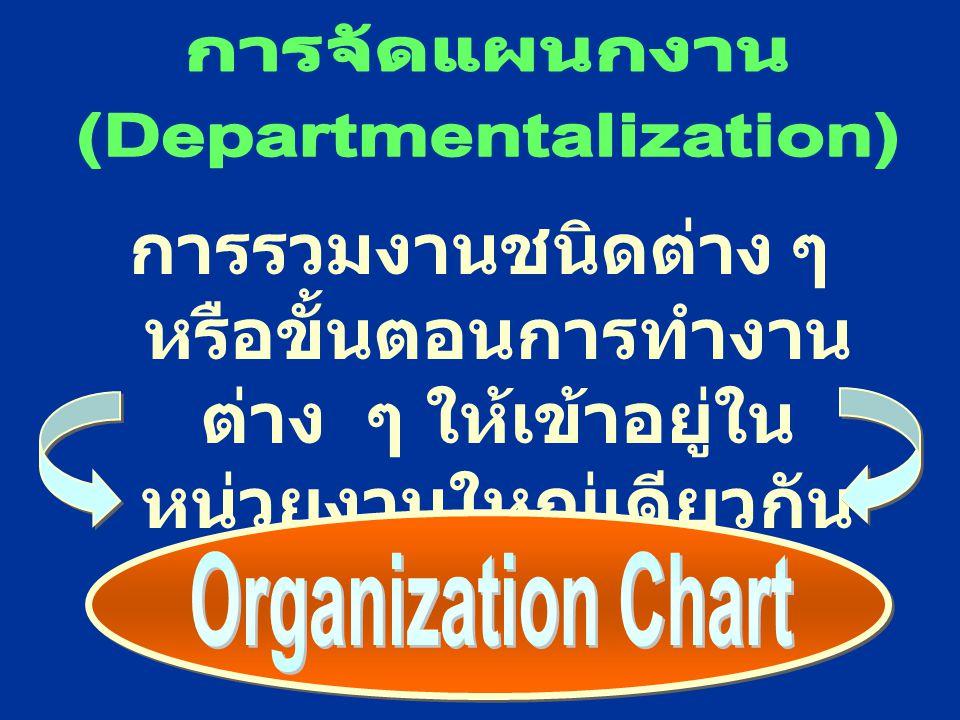 (Departmentalization)