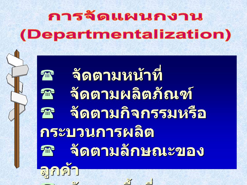(Departmentalization)