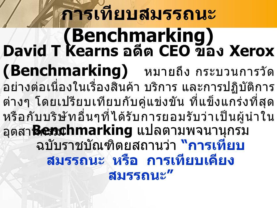 การเทียบสมรรถนะ (Benchmarking)