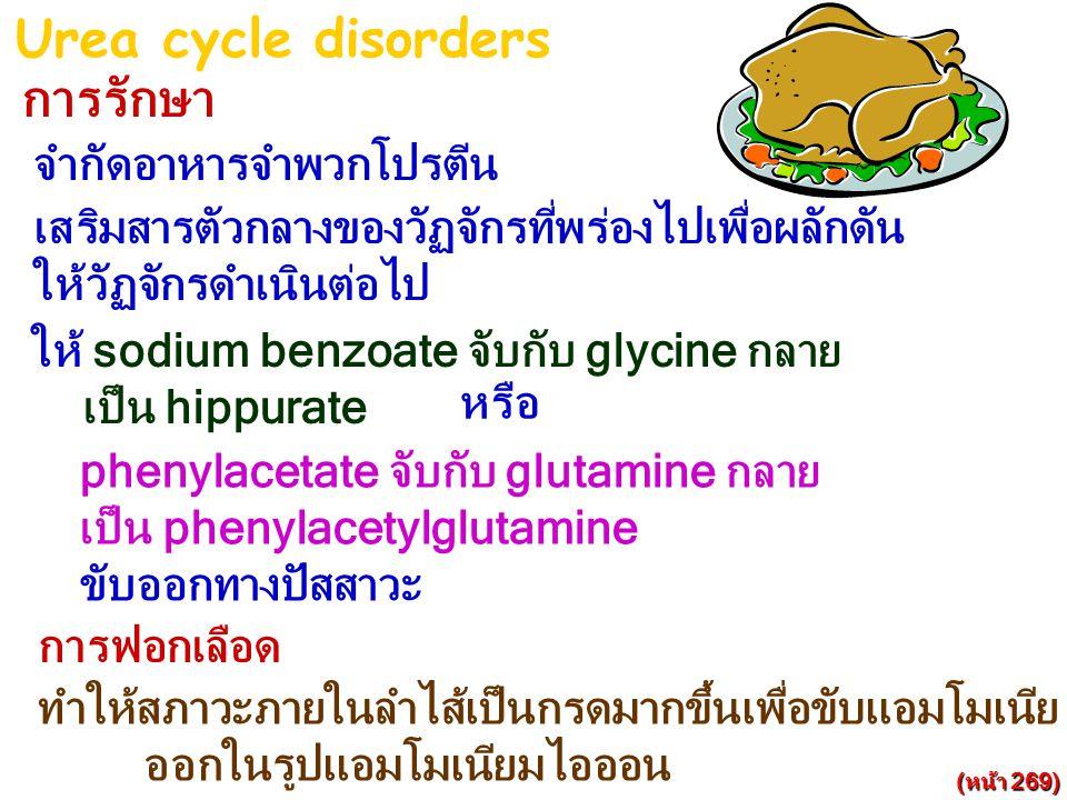 Urea cycle disorders การรักษา จำกัดอาหารจำพวกโปรตีน