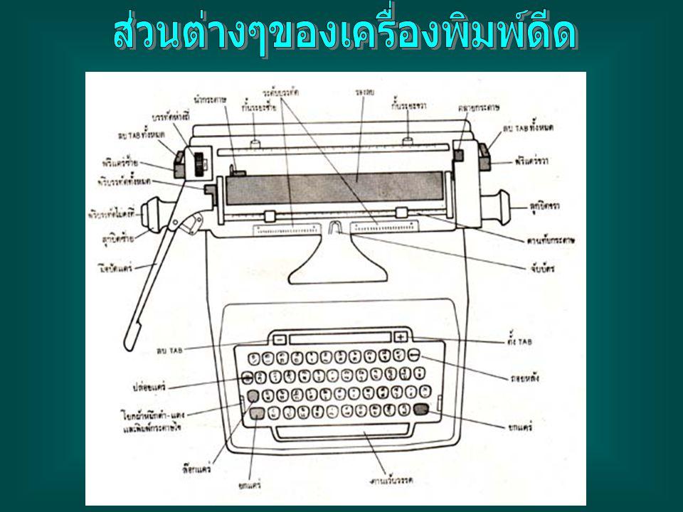 ส่วนต่างๆของเครื่องพิมพ์ดีด