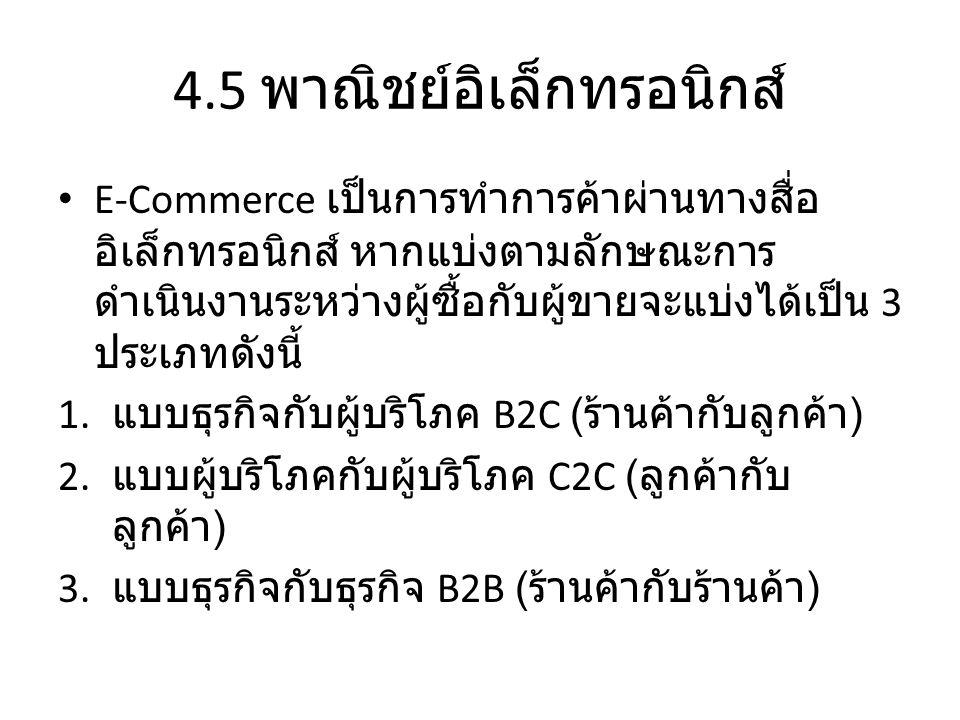 4.5 พาณิชย์อิเล็กทรอนิกส์