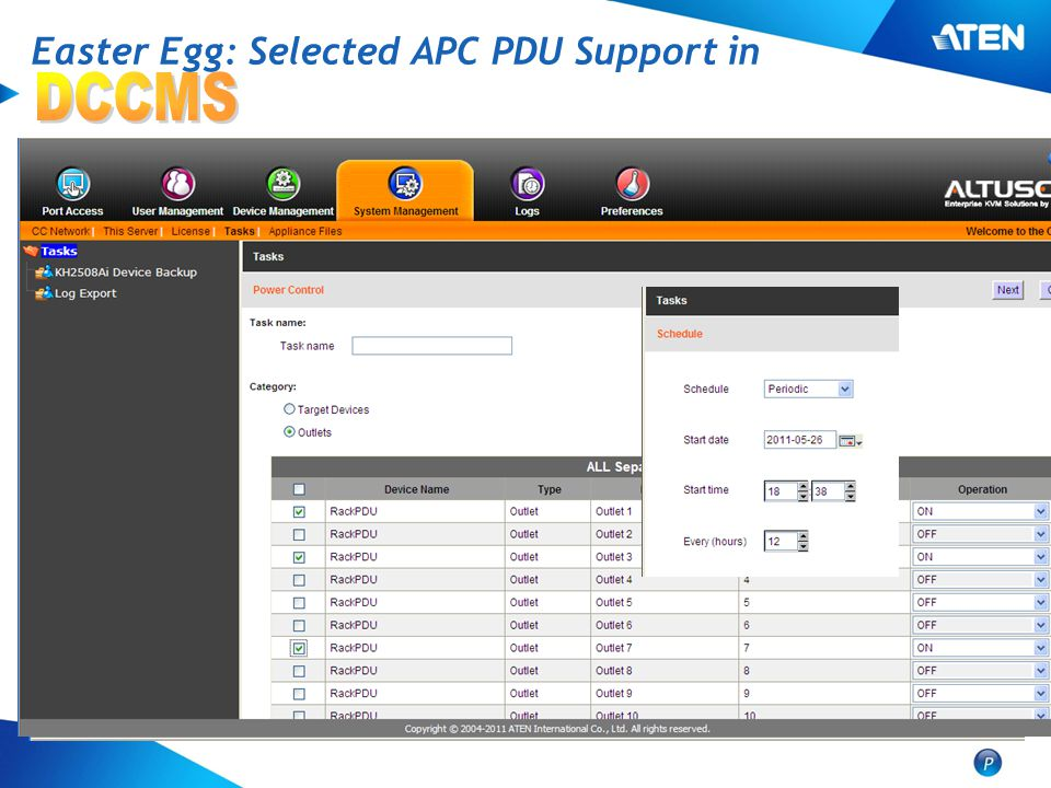 Easter Egg: Selected APC PDU Support in