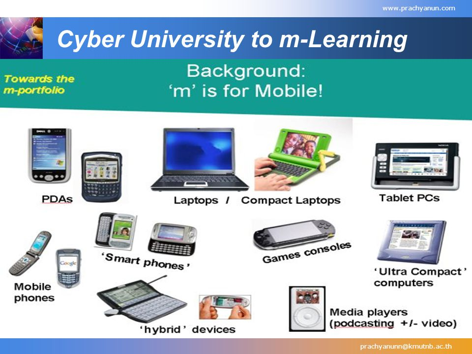 Cyber University to m-Learning