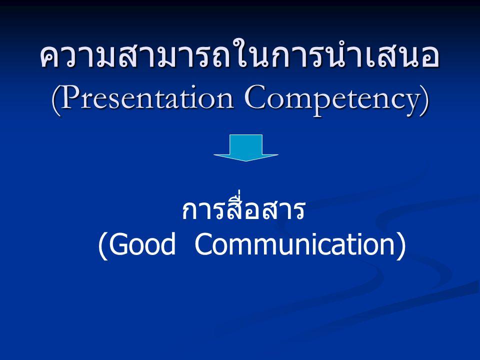ความสามารถในการนำเสนอ (Presentation Competency)