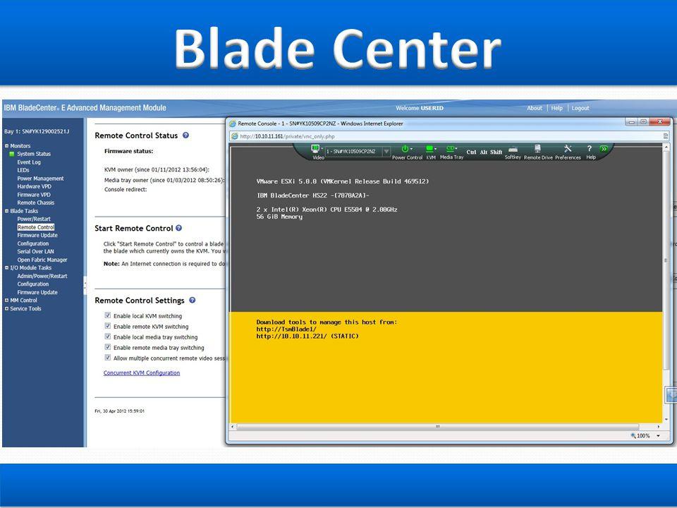 Blade Center สามารถ Remote ผ่านระบบ IE