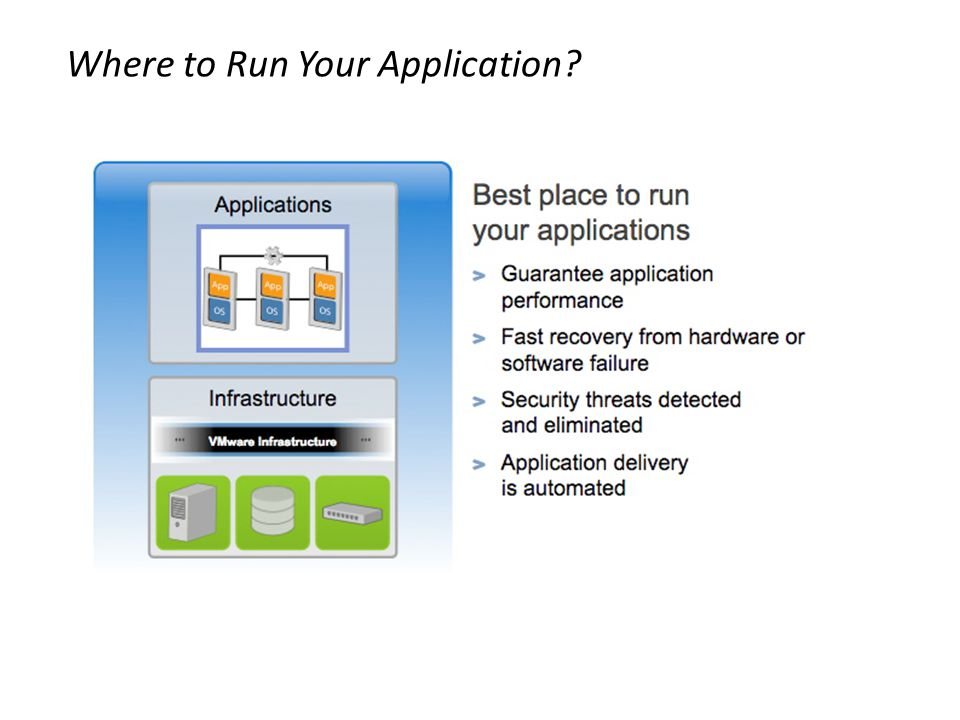 Where to Run Your Application