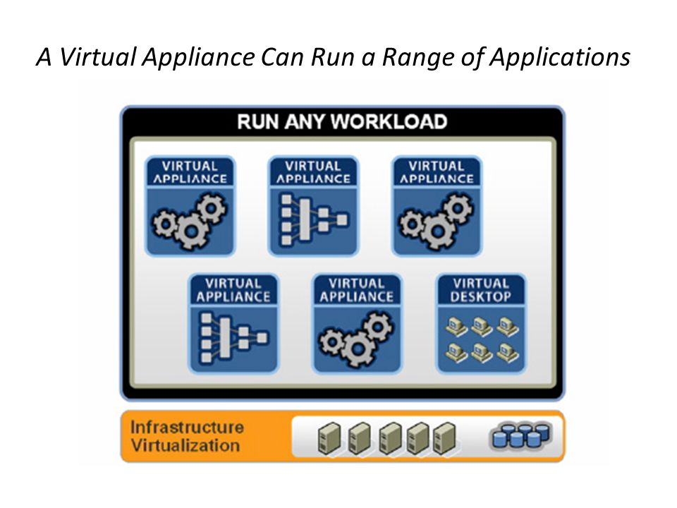 A Virtual Appliance Can Run a Range of Applications