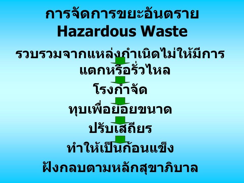 การจัดการขยะอันตราย Hazardous Waste