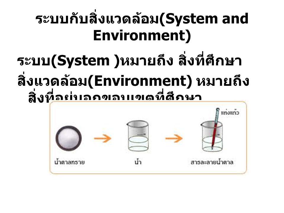 ระบบกับสิ่งแวดล้อม(System and Environment)