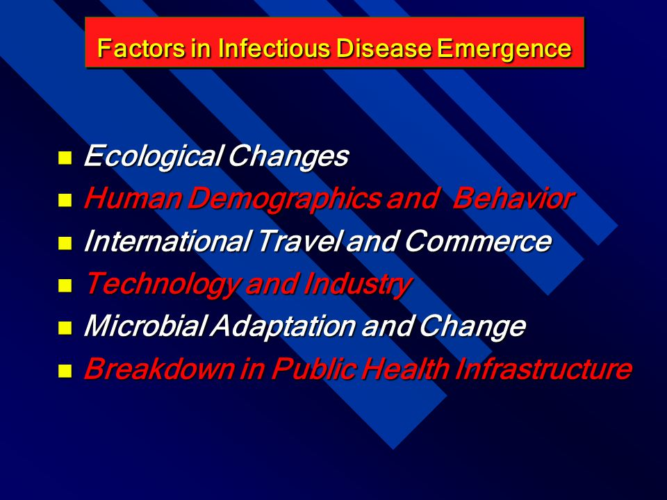Factors in Infectious Disease Emergence