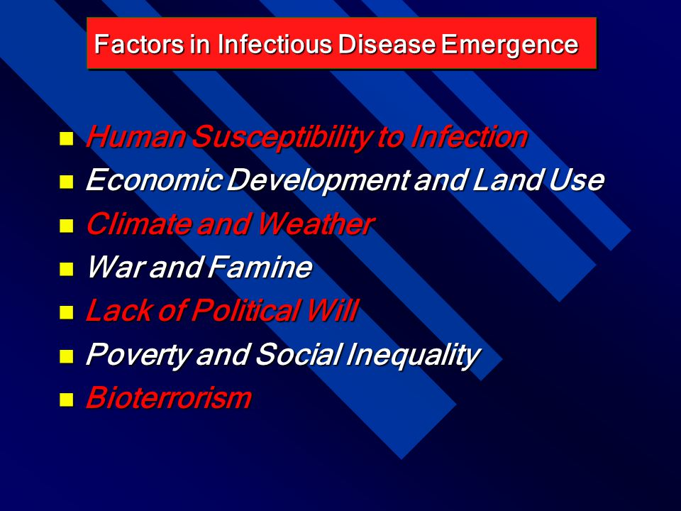 Human Susceptibility to Infection Economic Development and Land Use