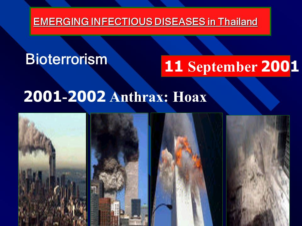 Bioterrorism 11 September 2001 2001-2002 Anthrax: Hoax