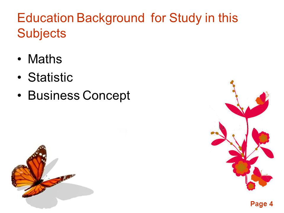 Education Background for Study in this Subjects