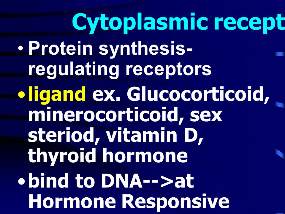 Cytoplasmic receptor Protein synthesis-regulating receptors