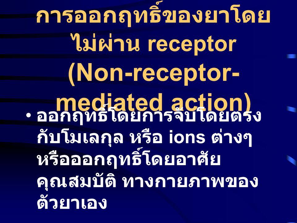 การออกฤทธิ์ของยาโดยไม่ผ่าน receptor (Non-receptor-mediated action)