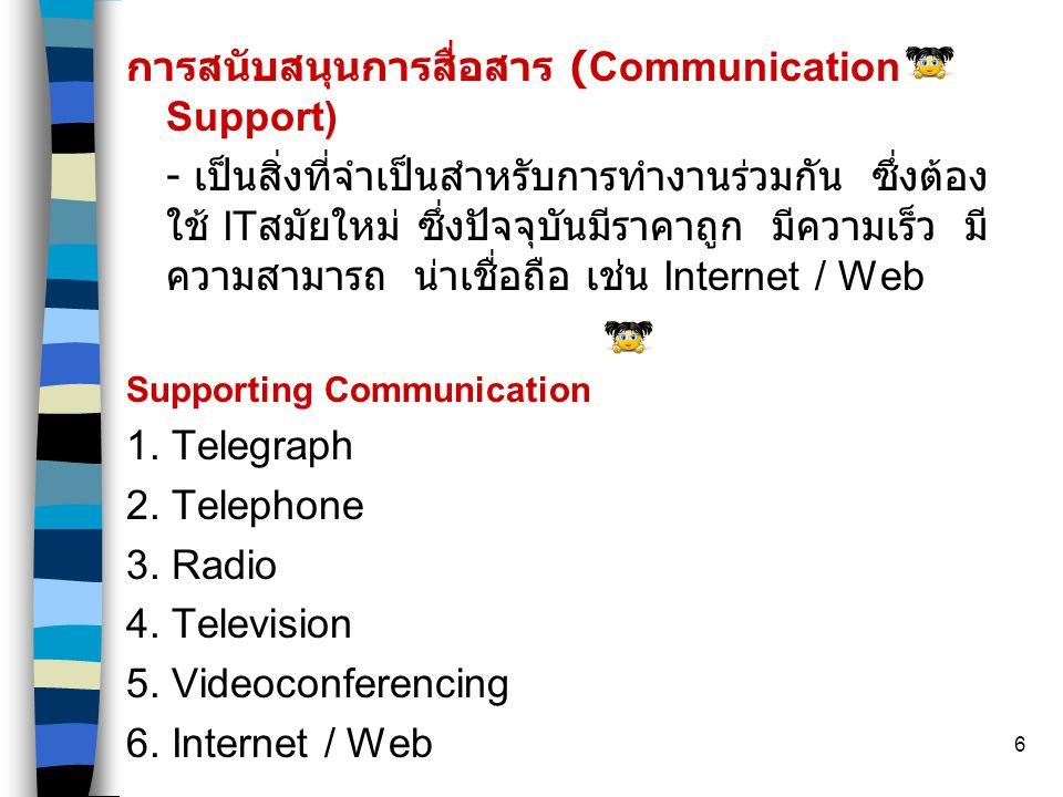 การสนับสนุนการสื่อสาร (Communication Support)