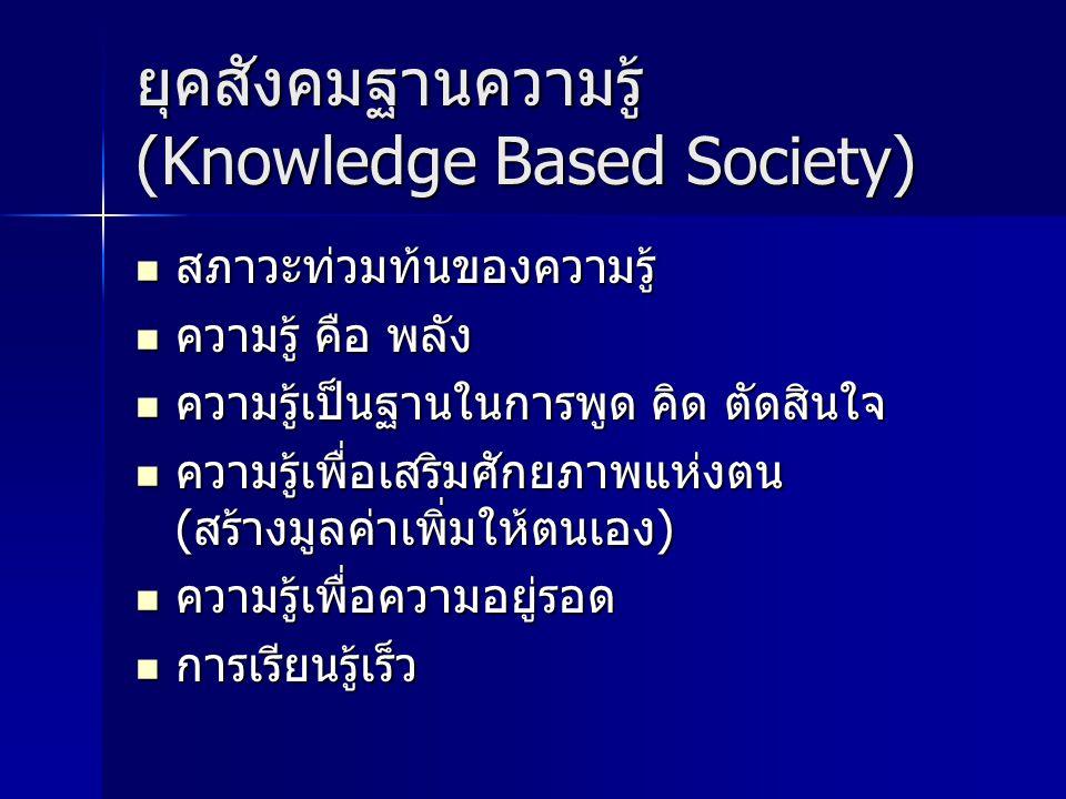 ยุคสังคมฐานความรู้ (Knowledge Based Society)