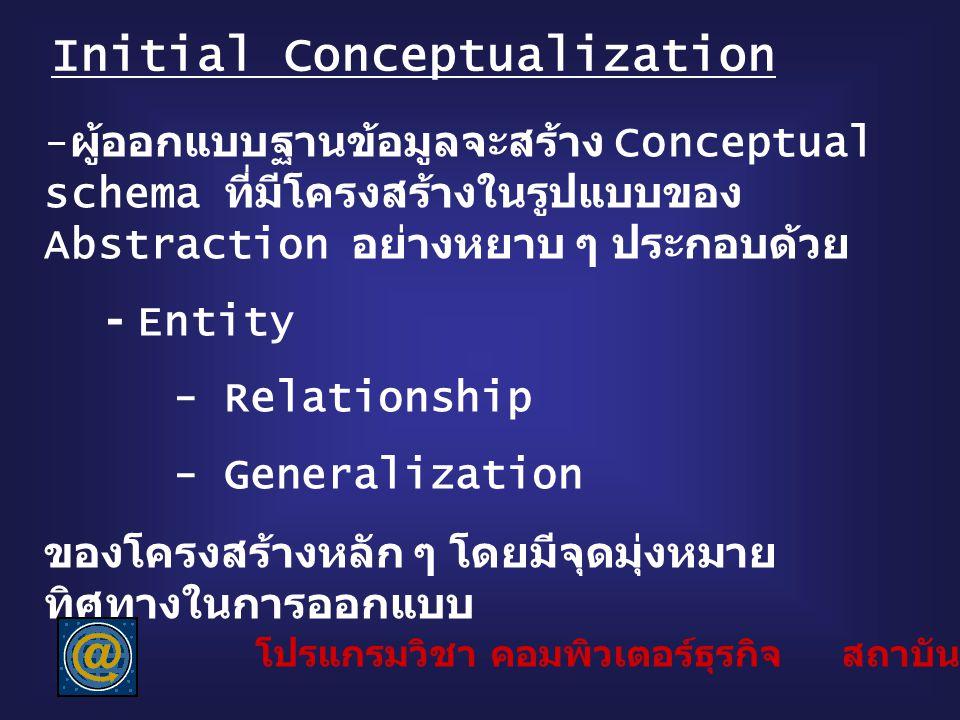 Initial Conceptualization