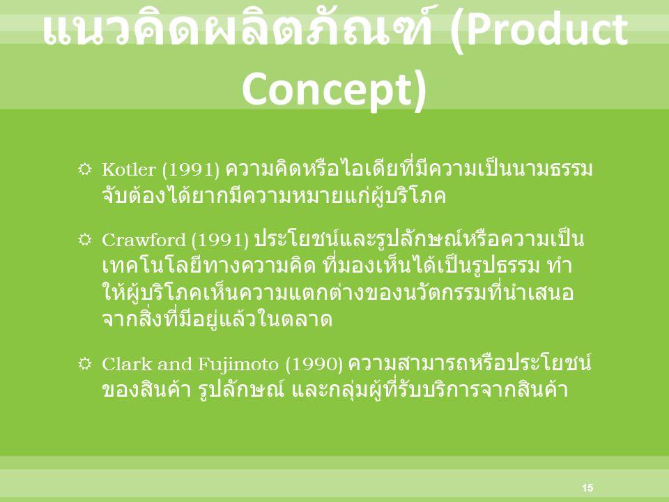 แนวคิดผลิตภัณฑ์ (Product Concept)
