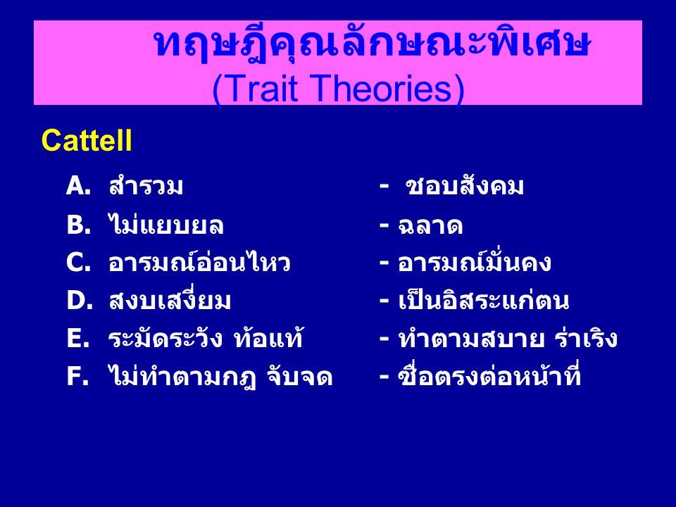 ทฤษฎีคุณลักษณะพิเศษ (Trait Theories)