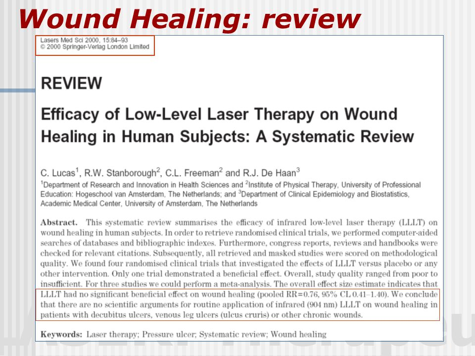 Wound Healing: review