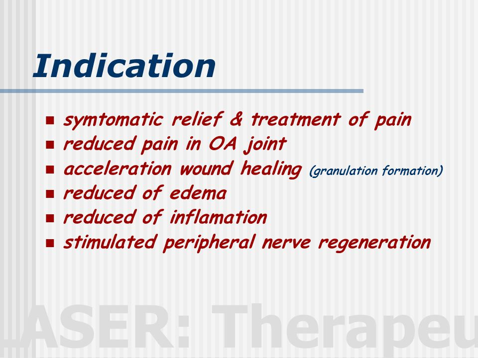 Indication symtomatic relief & treatment of pain