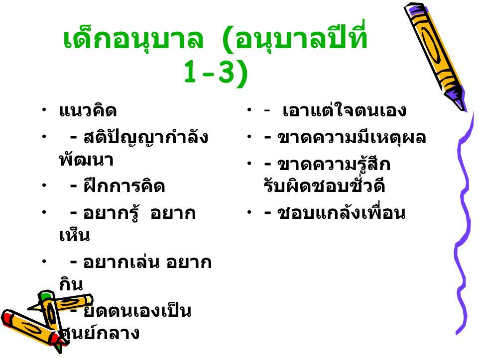 เด็กอนุบาล (อนุบาลปีที่ 1-3)