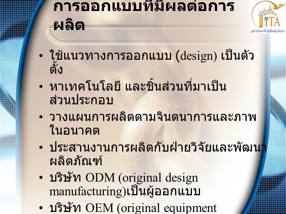 การออกแบบที่มีผลต่อการผลิต