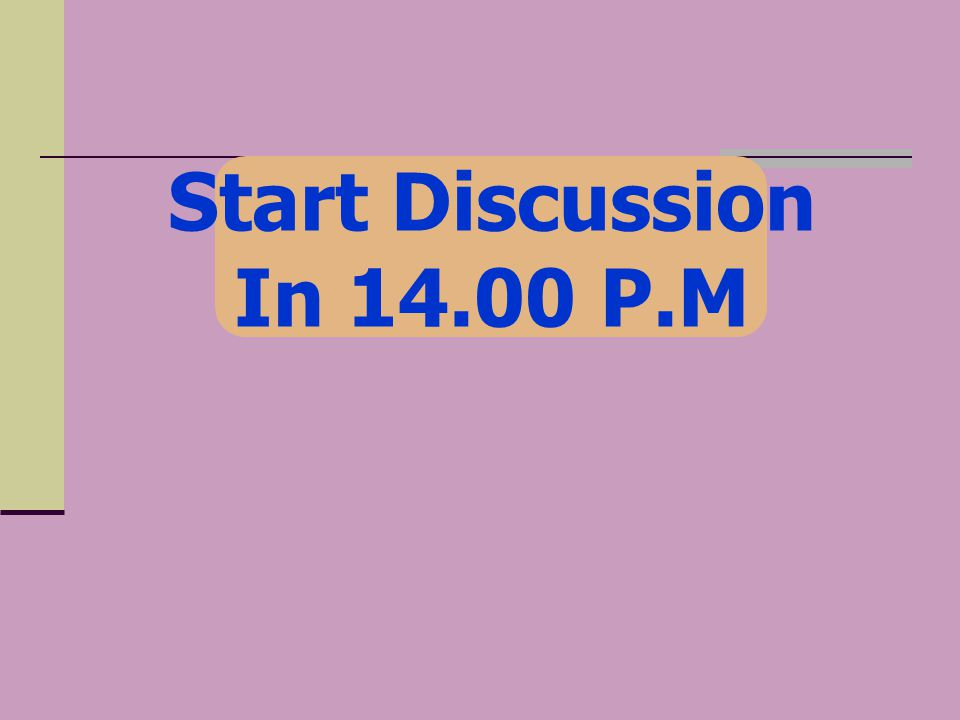 Start Discussion In P.M