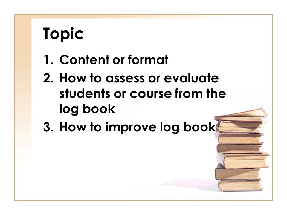 Topic Content or format