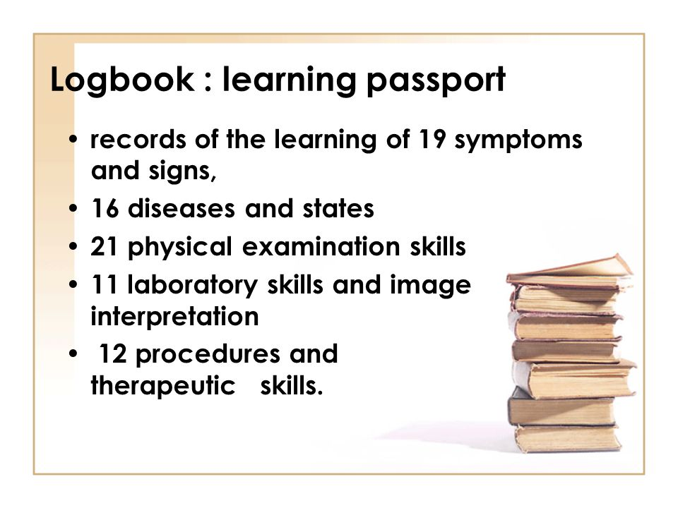 Logbook : learning passport