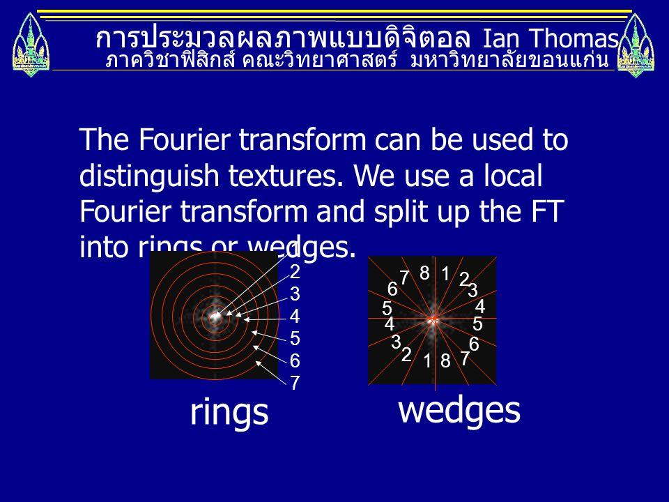 rings wedges การประมวลผลภาพแบบดิจิตอล Ian Thomas