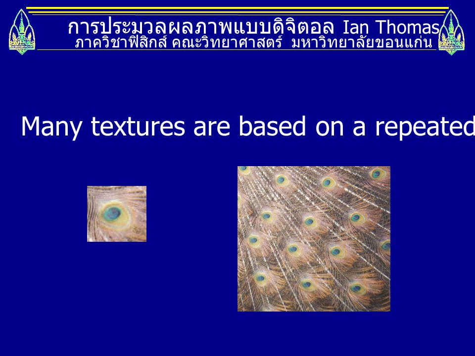 Many textures are based on a repeated element called a texel.