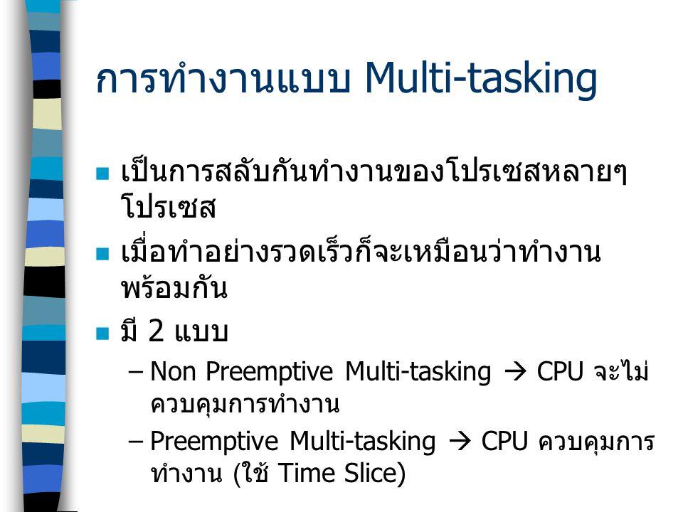 การทำงานแบบ Multi-tasking