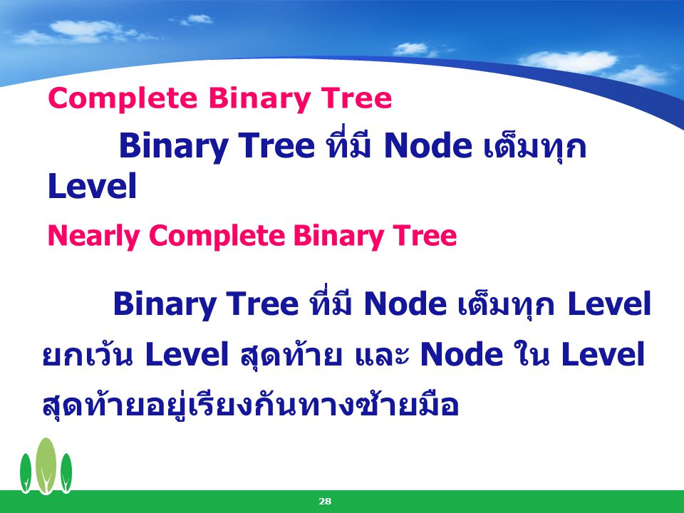 Nearly Complete Binary Tree