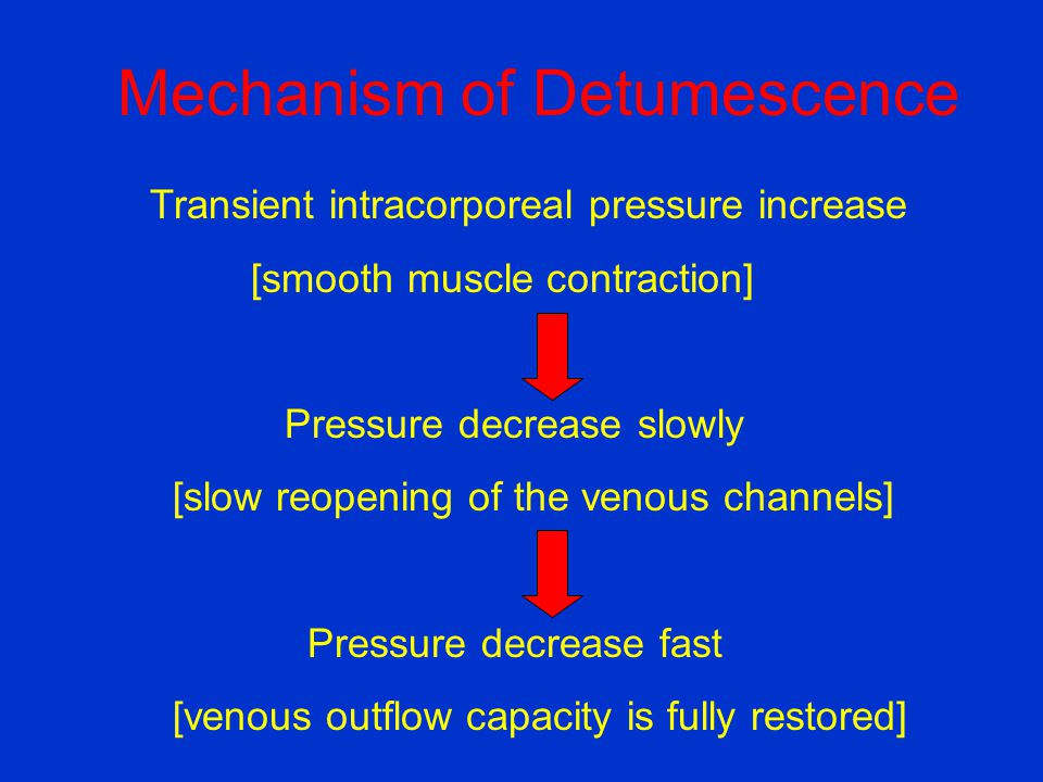 Mechanism of Detumescence