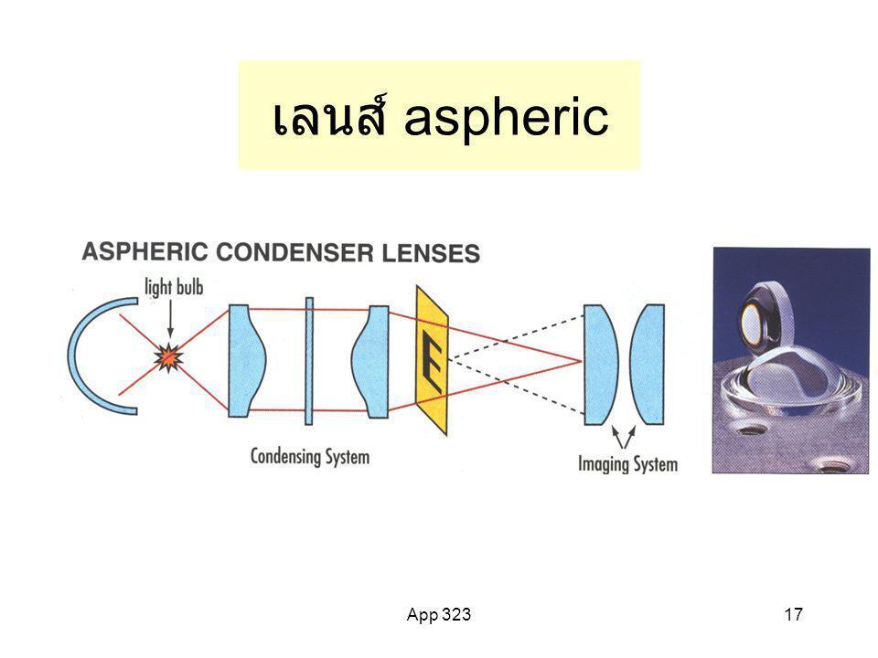 เลนส์ aspheric App 323
